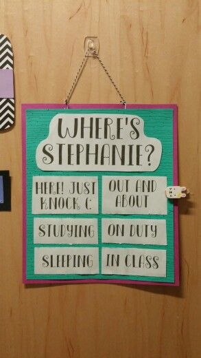 Where's your RA ? Door dec! I made this at three in the morning and i love it!
