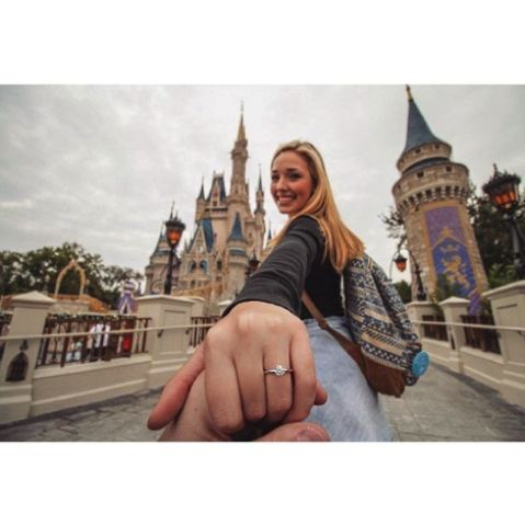 Work with your location. Instagram/@engageddisney Engagement announcement ideas #propose #engagement