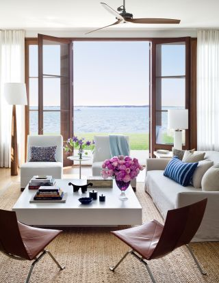 Beach Living Room by Foley & Cox and Frank Greenwald in Sag Harbor, New York