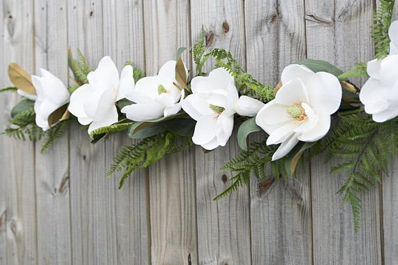 Magnolia Wedding Arch Garland Ceremony Arbor Silk Swag Elegant Wedding Ceremony Flowers Magnolia Wedding Country Wedding Arches
