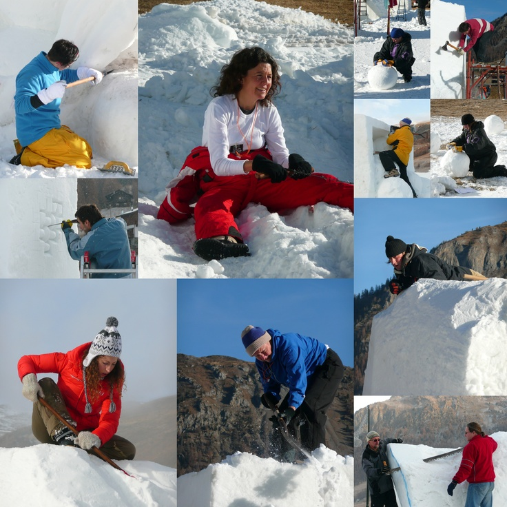 Artists at work  [Art in Ice Livigno - http://www.facebook.com/art.in.ice.livigno]