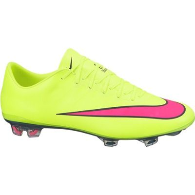 nike football boots. nike mercurial vapor x firm ground football boots - yellow. available from kitbag.com