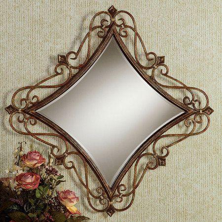 Meyda Scrolling Diamond Wall Mirror