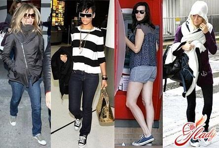 Стиль одежды кеды женские