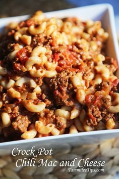 #CrockPot Chili Mac and Cheese Recipe  omit the chili and cheese, add bell peppers for American style goulash