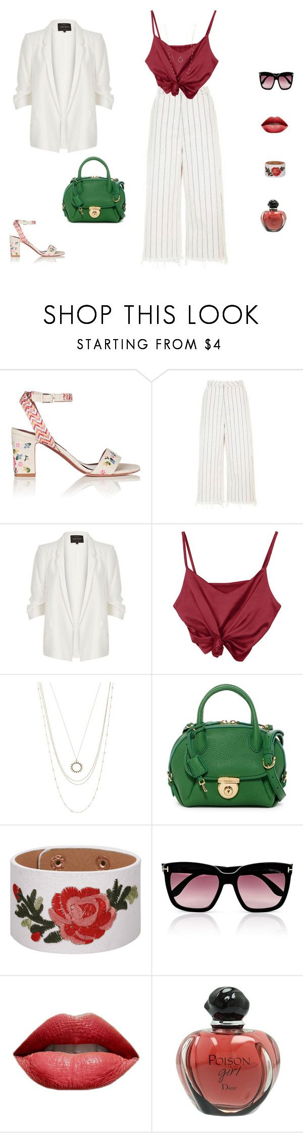"""""""Ferragamo bag"""" by mariagraziatrotta ❤ liked on Polyvore featuring Tabitha Simmons, Topshop, River Island, ASOS, Salvatore Ferragamo, Tom Ford and Christian Dior"""