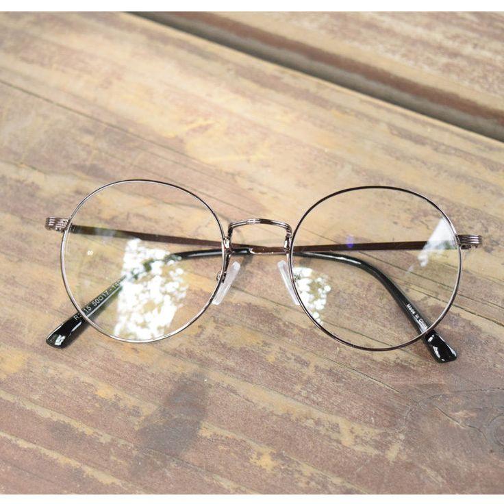 Vintage trend round shape oliver eyeglasses 30e15 brown frames eyewear rubyruby