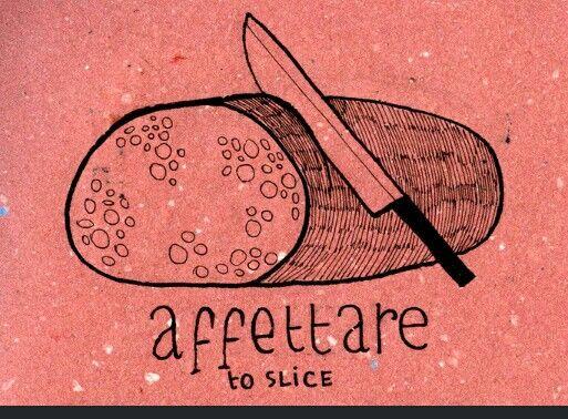 Learning Italian Language ~ affettare (to slice)