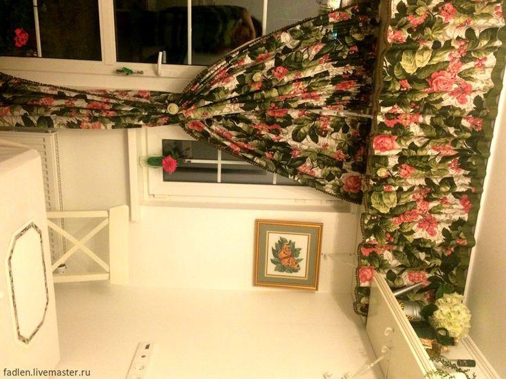 Купить Шторы для кухни, веранды по вашим размерам, хлопок - разноцветный, шторы для веранды, шторы для кухни