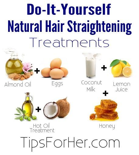 Natural Hair Straightening Treatments - Hey girls! Skip the heat! Here are a few natural ways to straighten your hair without using a hair straightener!