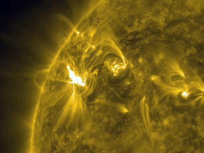 Sunspots could lead to solar flares.: Solar Storms, Flare Eruption, Activities Regions, Northern Lights, Earth, Solar Flares, Sun, M Class Flare, Air Travel