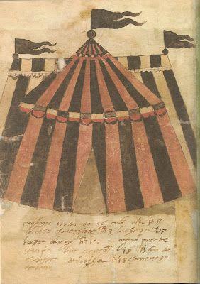 Bog med billeder og mønstre på telte fra midt/slut 1500-tallet!