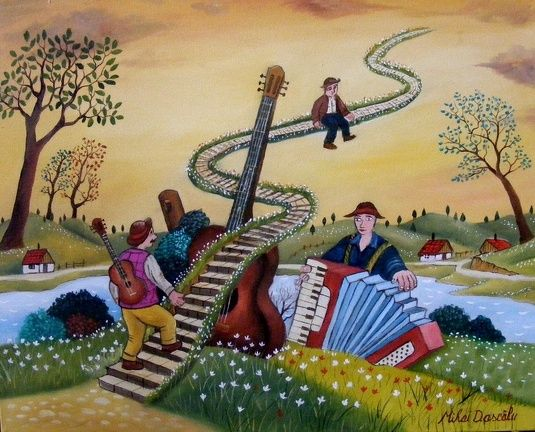 "stairway to heaven (from <a href=""http://www.naiveart.gallery/picture.php?/25/category/10"">Naive Art Gallery</a>)"