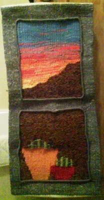 mediterraneo (vendido) tapiz lana,rayón,algodón tejido en alto lizo,