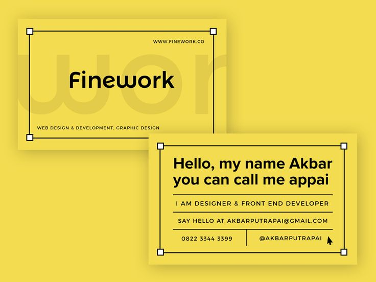 Finework business card design by Appai