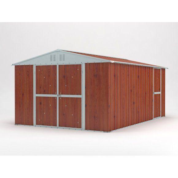 Garden Shed 3.27m x 4.59m x 2.17m Wood Finish