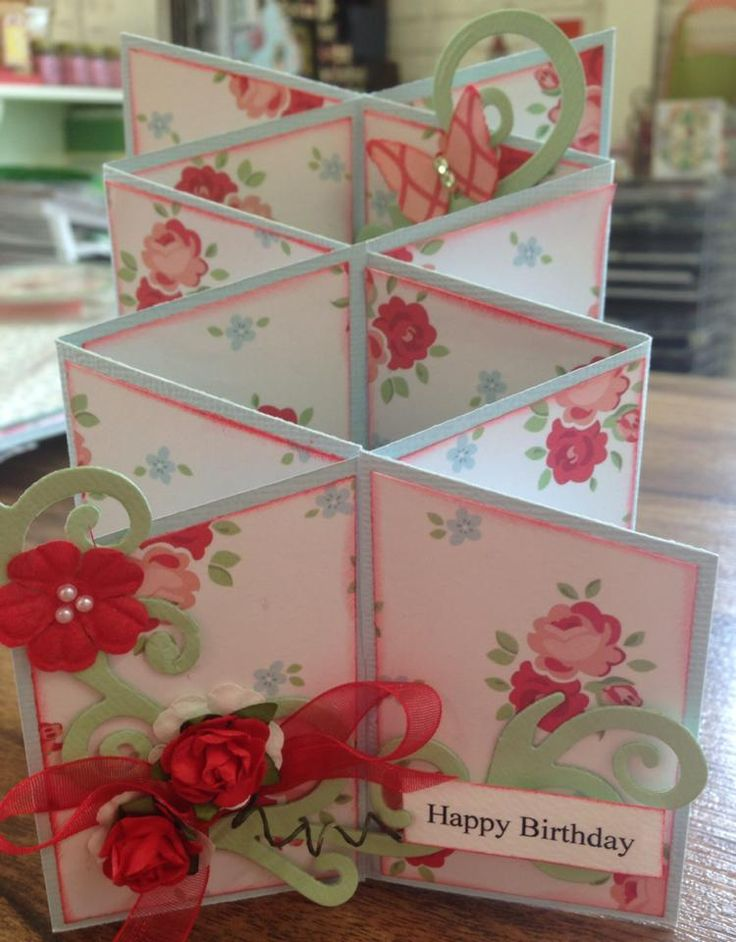 January 2015 card class at MakeApage Scrapbooking Kilmore. Cascading cards.