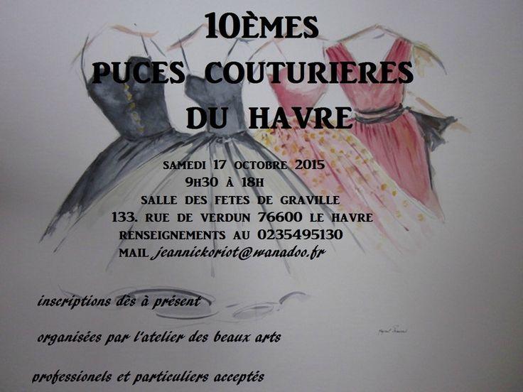 Puces couturières du Havre-Graville (76) : 17 octobre 2015...