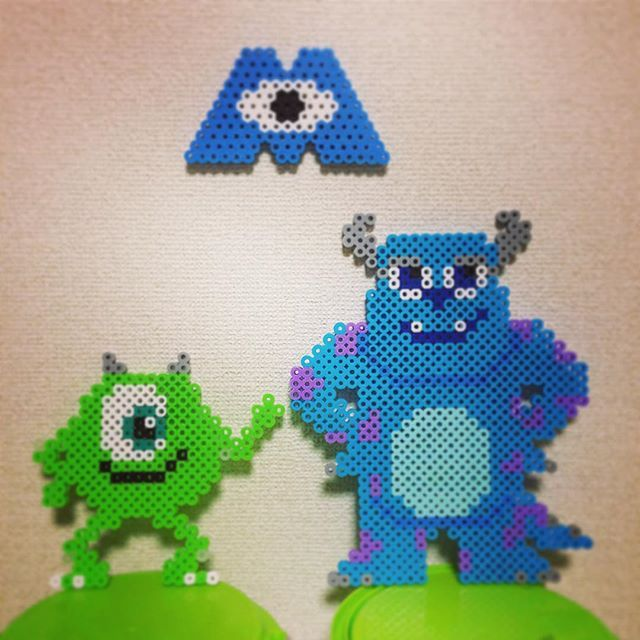 Mike and Sulley - Monsters Inc. perler beads by ringo_0122