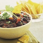 Bean Dip with Blue Cheese and Bacon