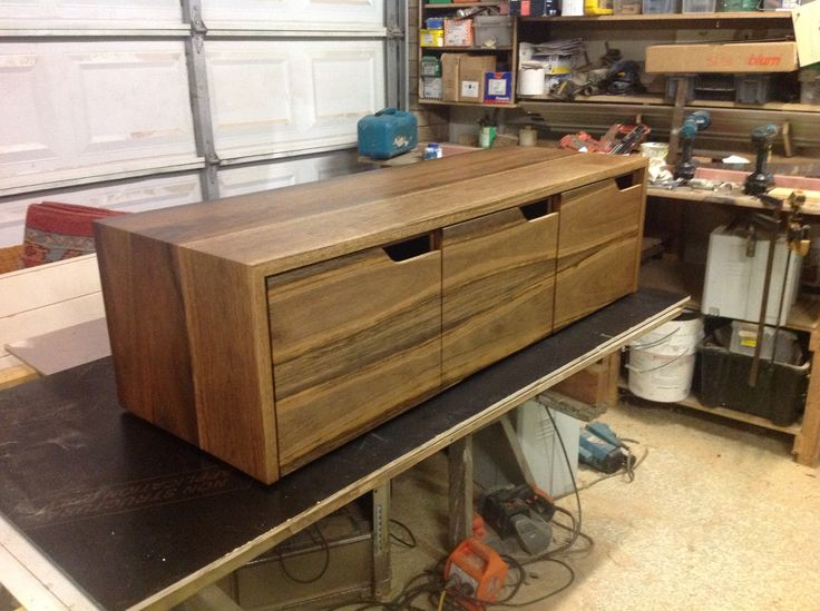Spotted gum bathroom vanity with form ply carcass, by leaf handcrafted furniture