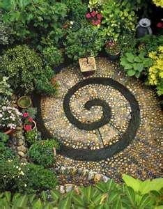Outdoor meditation space