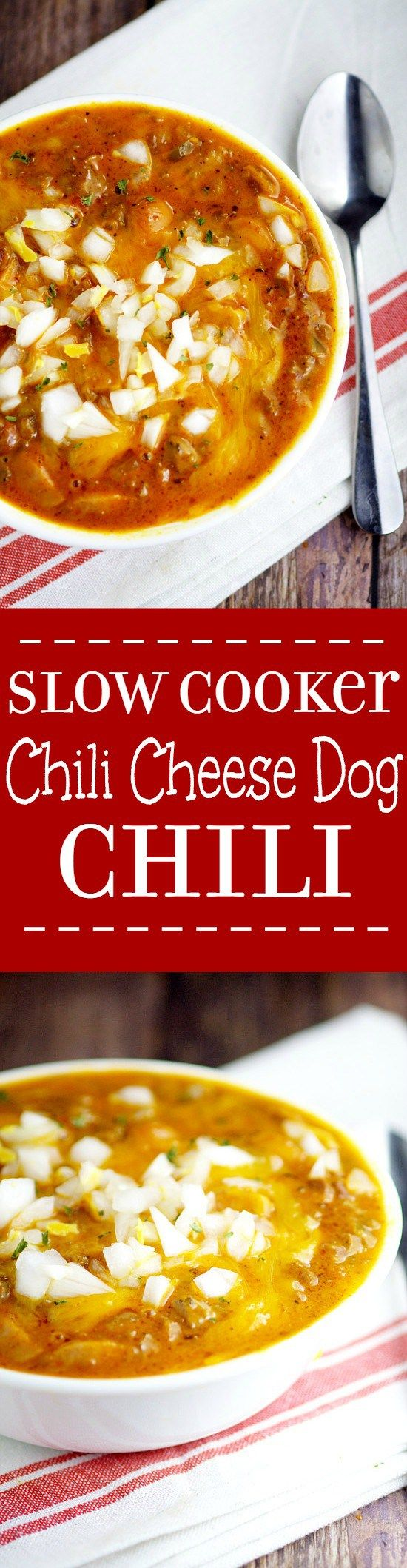 Slow Cooker Chili Cheese Dog Chili Recipe. Traditional beef chili recipe with…