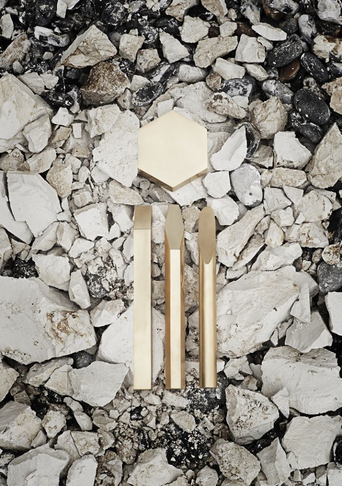Materials:Industrially extruded brass | Designer:Emilie Grenier | Photography: Tristan Thomson