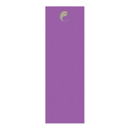 Yin Yang Yoga Mat Plum/Silver - click/tap to personalize and buy