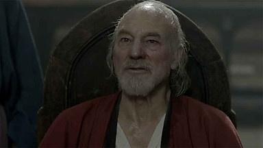 Sir Patrick Stewart as Prince John of Gaunt, Duke of Lancaster; father of Bolingbroke.