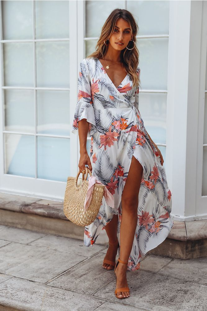 Our The Message Maxi Dress Is The Floaty Still You Have Been Looking For This Wrap Style Design Is Perfect For Sipping On Cocktails With The Girls Style Stile