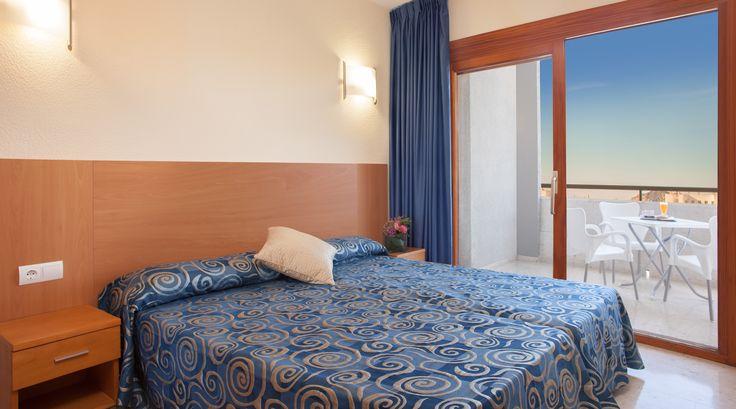 Habitaciones del Primavera Park hotel en Benidorm. Con vistas fabulosas a la isla de Benidorm