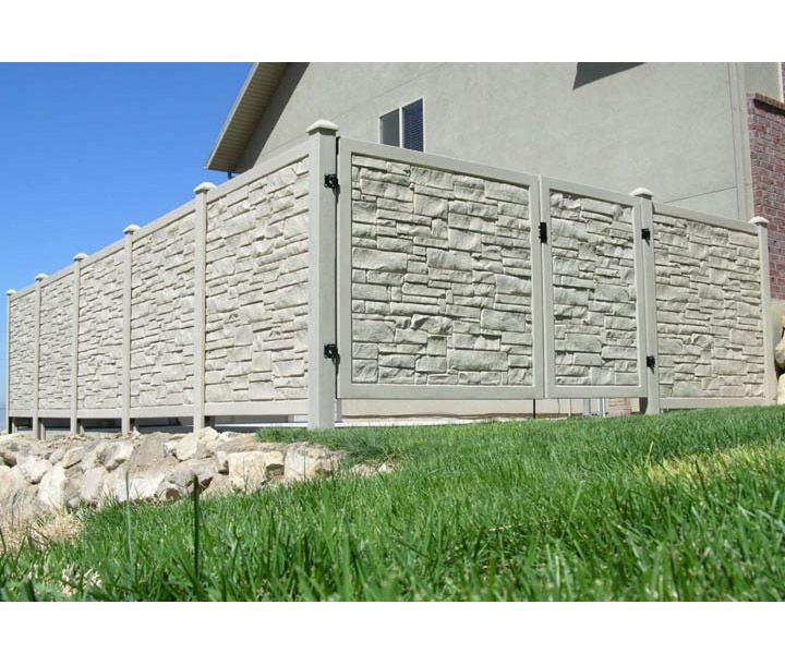 Bufftech Allegheny Vinyl Fence Sections Fence Design Fence Sections Concrete Fence Wall