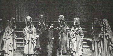 Teatro griego: coro. Puesta en escena de Medea de Eurípides. Vestuario de Julio Prieto,1964