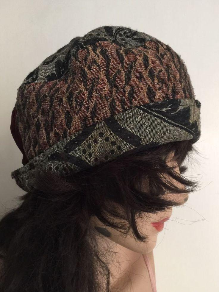 Wendy Carrington BoHo Hippie Patchwork Hat Cap One Size
