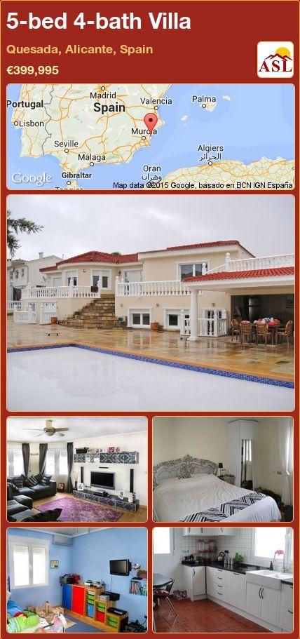 5-bed 4-bath Villa in Quesada, Alicante, Spain ►€399,995 #PropertyForSaleInSpain