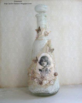 *Свободное творчество*: МК винтажная бутылка от Anastasia