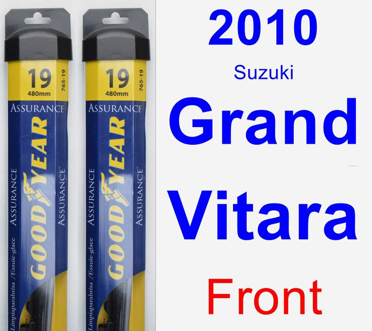 Front Wiper Blade Pack for 2010 Suzuki Grand Vitara - Assurance