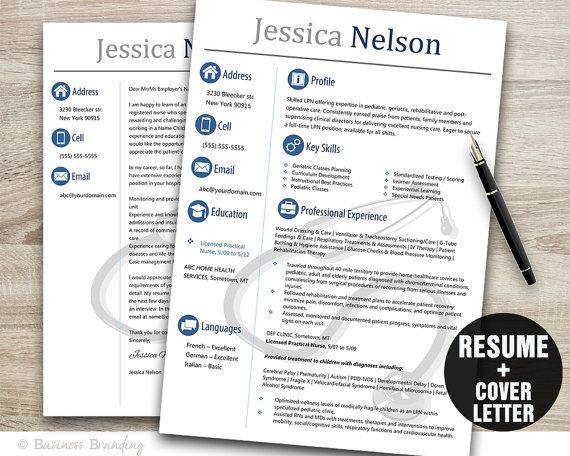 57 best Resume Template images on Pinterest Resume templates - nursing resume templates free