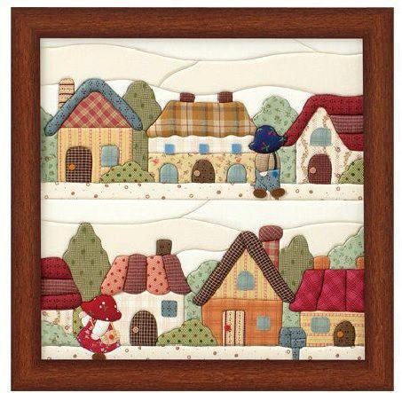 houses quilt.