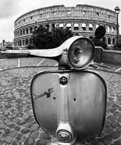 Coliseum, Rome, Vespa