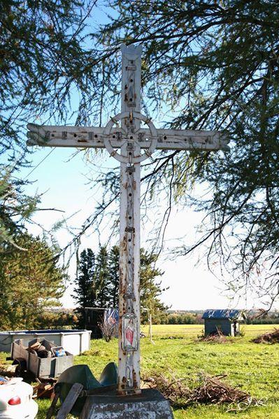 Croix de chemin de Ste-Jeanne d'Arc (symbolique) - Route 281 (Chemin Mailloux), St-Camille-de-Lellis, MRC Les Etchemins, QC, Canada