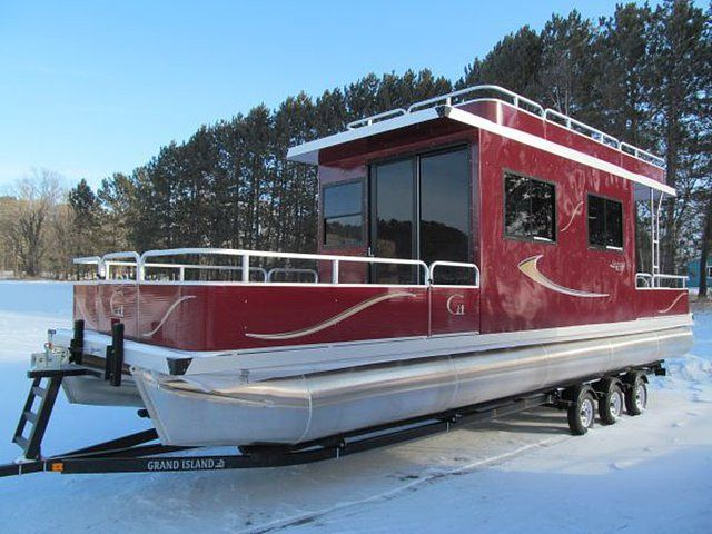 2013 Custom Grand Island Aluminum Pontoon Houseboat ...