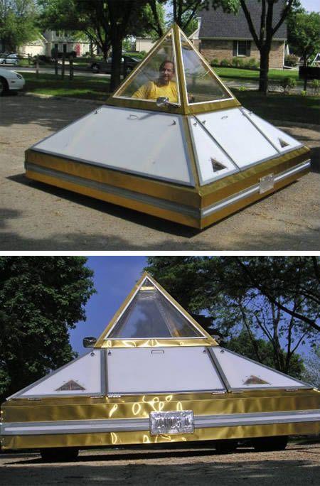 Dream Car 123: the pyramid electric car