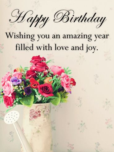 Send Free Vintage Flower Bouquet Happy Birthday Card to Loved Ones on Birthday & Greeting Cards by Davia. It's 100% free, and you also can use your own customized birthday calendar and birthday reminders.