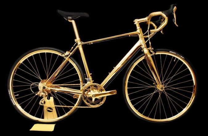 24K Gold Men's Racing Bike From Goldgenie | Rides | CoolPile.com