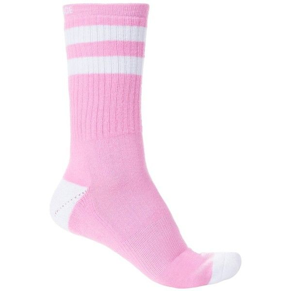 Arthur George Bride Socks ($15) ❤ liked on Polyvore featuring intimates, hosiery, socks, crew cut socks, crew length socks, bride socks, striped cotton socks and bridal hosiery