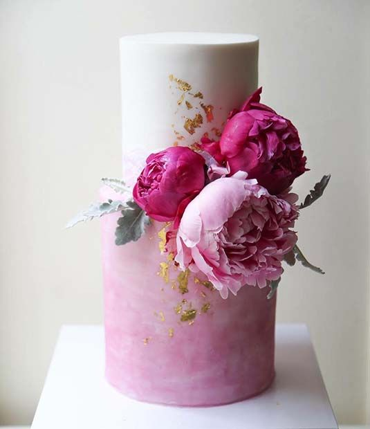 Idéia de bolo de casamento brilhante para um casamento na primavera   – Inspiration
