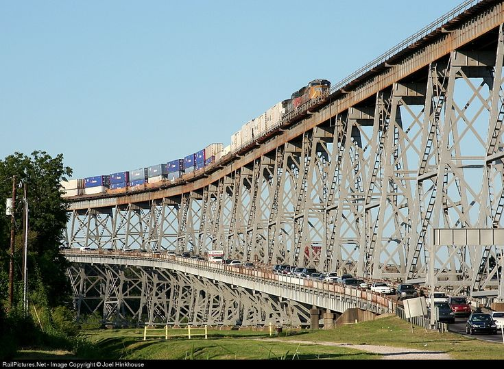 Huey Long Bridge to the Westbank, New Orleans, LA - the scariest bridge I have ever crossed. When a train is passing, the entire bridge shakes! Avoid at all costs!