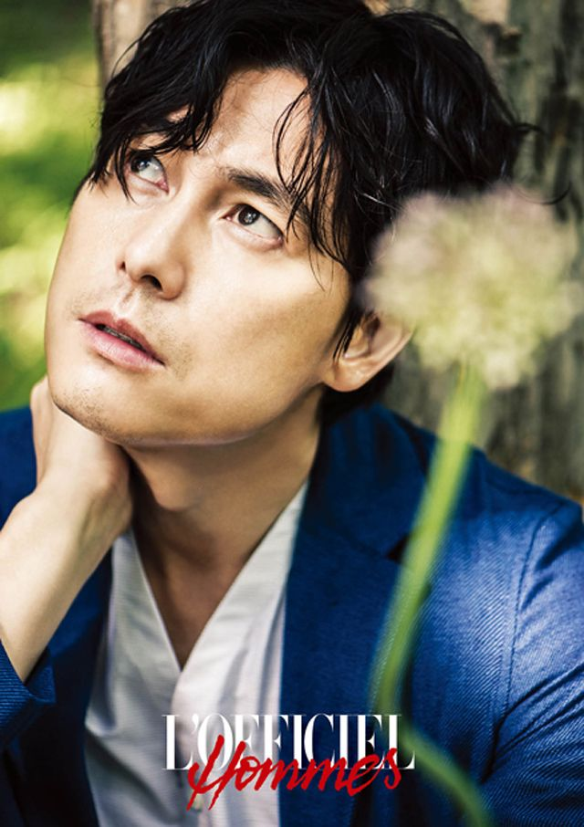 Jung Woo Sung - LOfficiel Hommes Magazine July Issue 13 his eyes look so sad;(. But looking more mature and handsome in his 40's